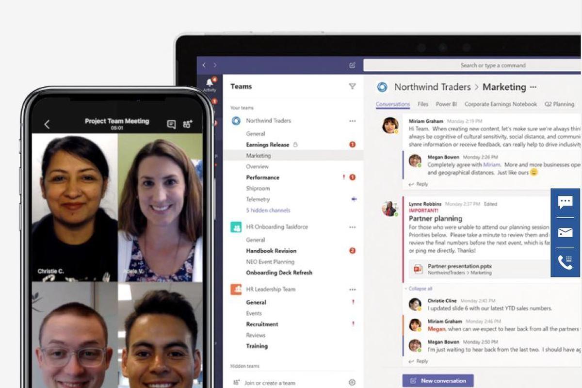 امکان حضور ۲۵۰ نفر در مکالمات گروهی نرم افزار Microsoft Teams