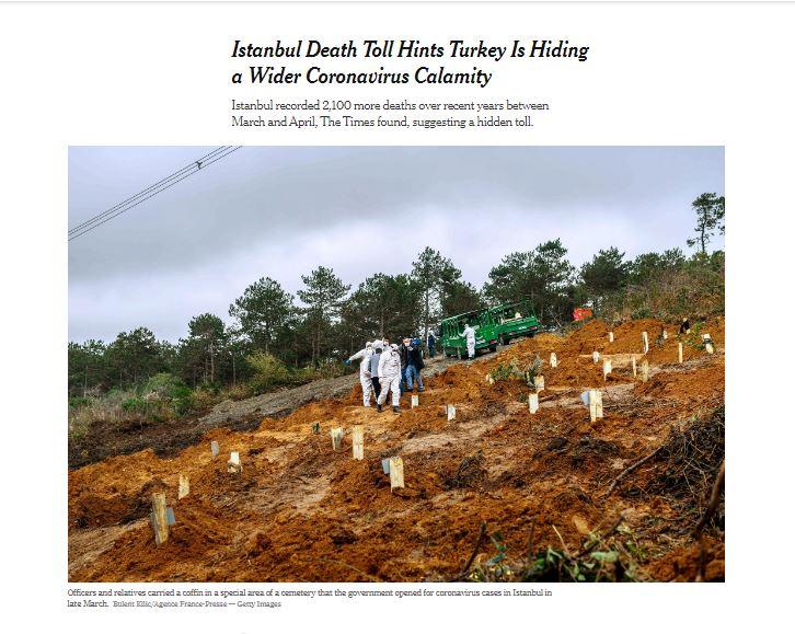 نیویورک تایمز: ترکیه درباره فاجعه شیوع کرونا پنهانکاری میکند