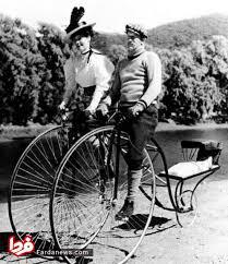 دوچرخه خانوادگی در قدیم (عکس)