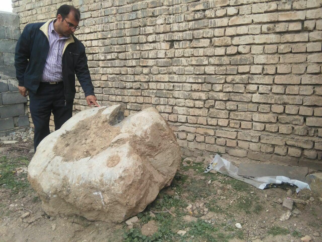 هاون سنگی متعلق به دوران قاجار در خمین کشف شد