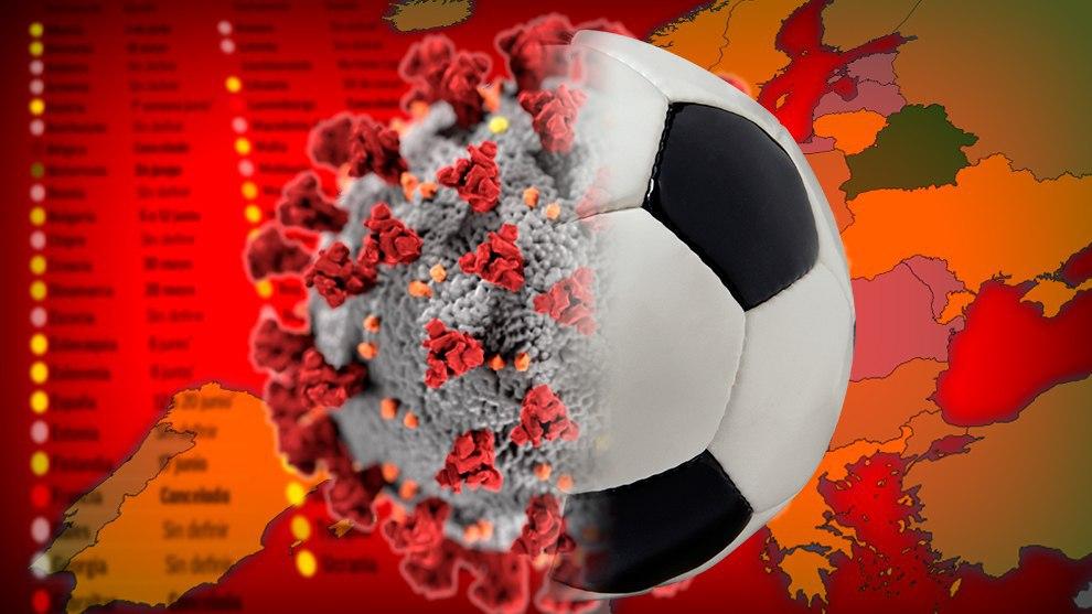وضعیت از سرگیری لیگهای فوتبال در کشورهای اروپایی