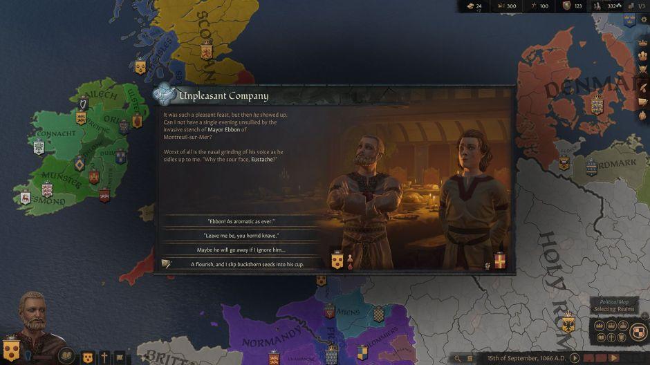 صفحه نقشه بازی Crusader Kings 3