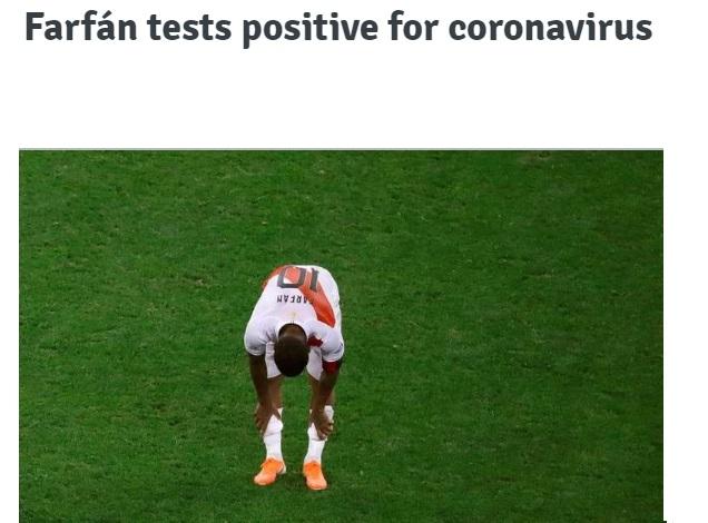 ستاره پرو در جام جهانی ۲۰۱۸ کرونا گرفت