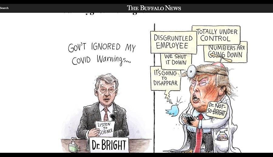 کاریکاتور روزنامه محلی آمریکا درباره ترامپ