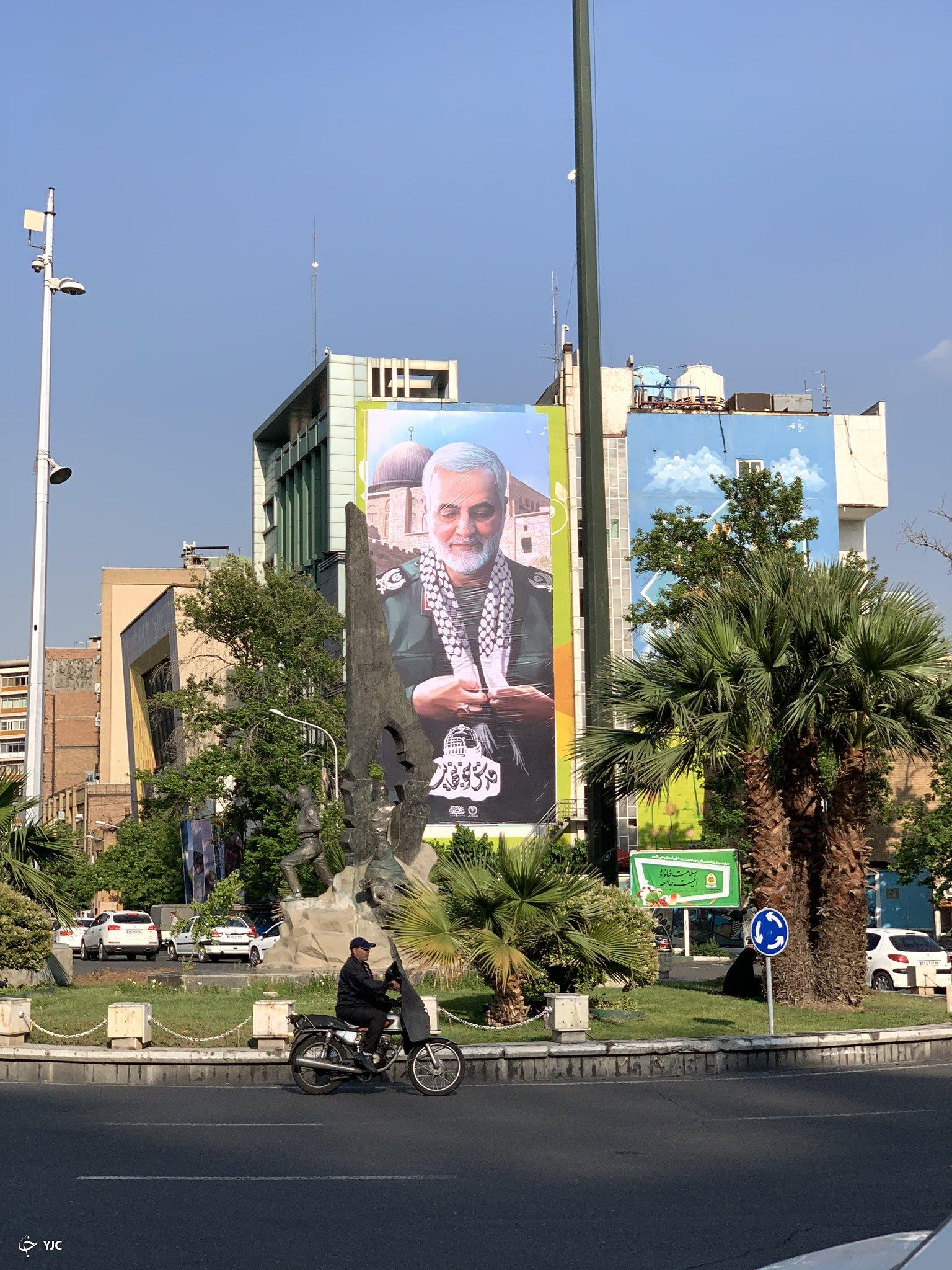 حاج قاسم در فلسطین + تصویر