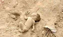 لحظه تکان دهنده نجات نوزاد زنده به گور شده! (-۱۸)