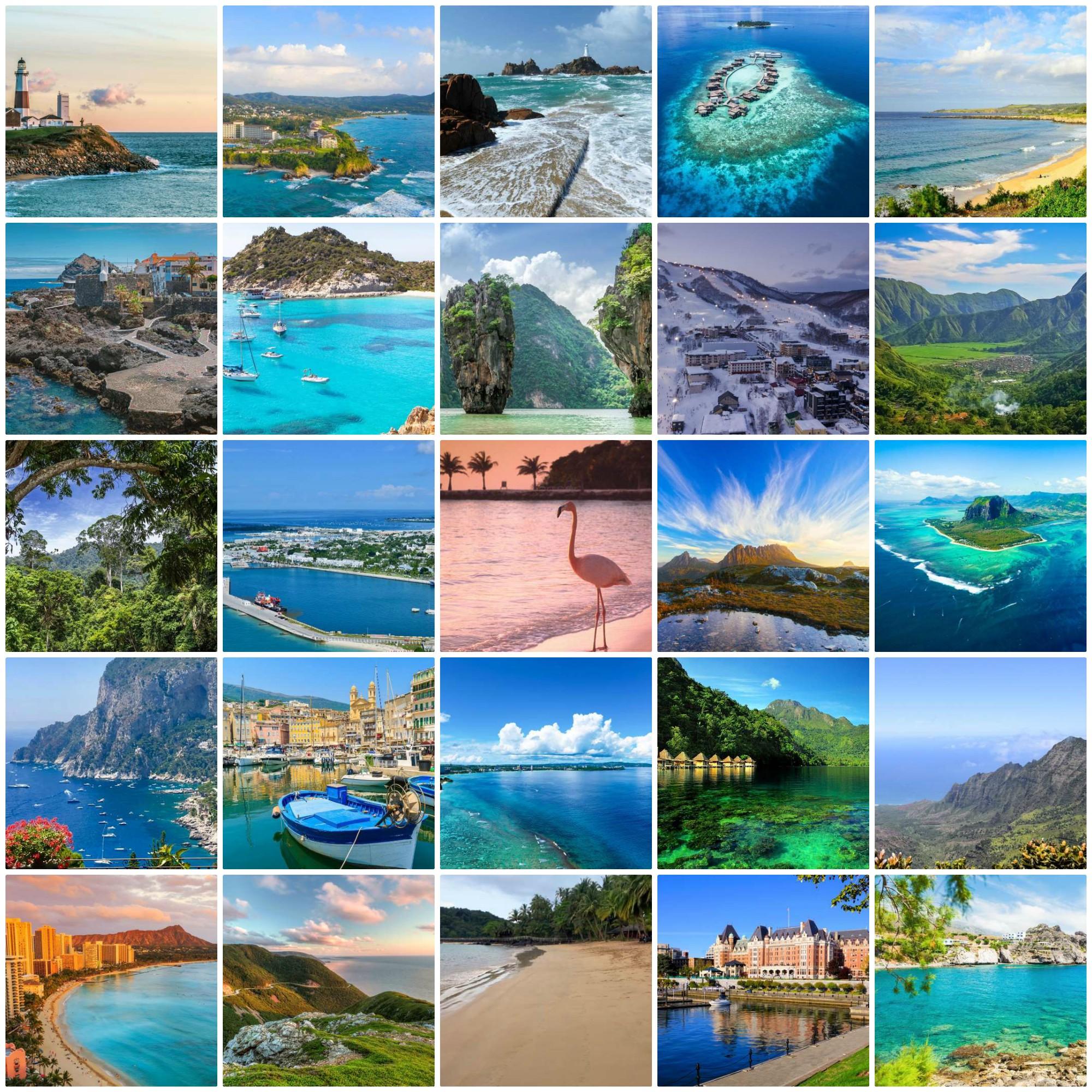 جزیرههایی با بازدید زیاد در فضای مجازی
