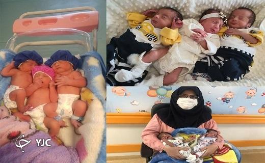 تولد سه قلوها در وضعیت سفید بیمارستان فرقانی قم