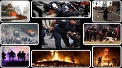 خشم مردم آمریکا از رفتار نژادپرستانه پلیس/ ادامه تظاهرات در شهرها و ایالتهای مختلف+ تصاویر و فیلم