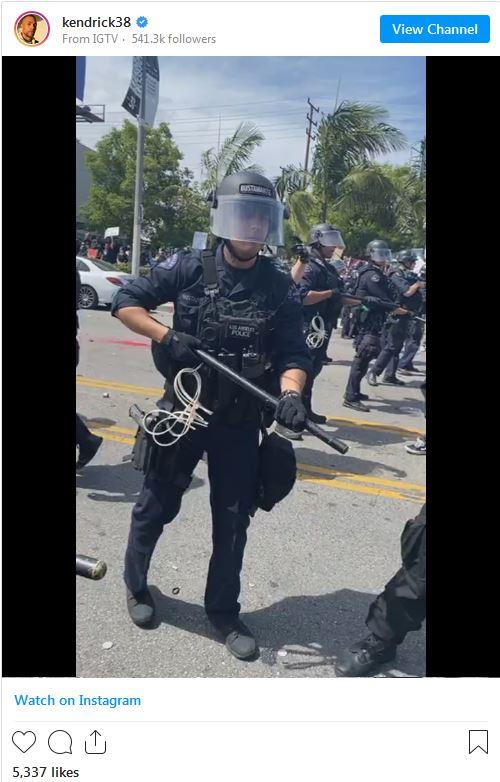 شلیک پلیس به بازیگر آمریکایی در پی اعتراضات آمریکا