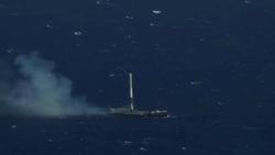 فرود دقیق موشک فالکون ۹ در وسط اقیانوس + فیلم