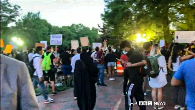 اعتراض مقابل کاخ سفید
