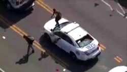 حمله معترضان به خودروهای پلیس فیلادلفیا به سبک بازی GTA + فیلم