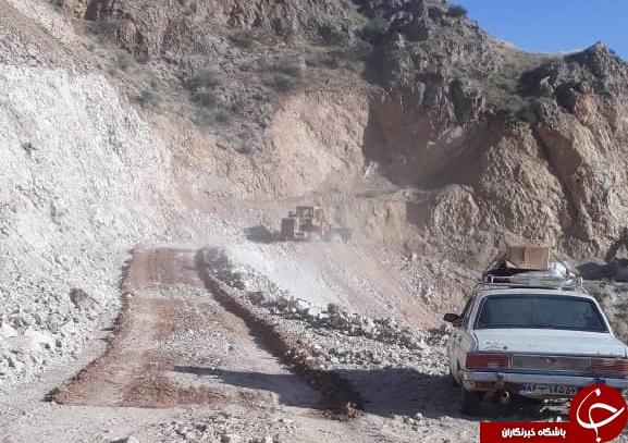 بازگشایی راه روستاهای ساوه ۱۰ روز پس از رانش زمین
