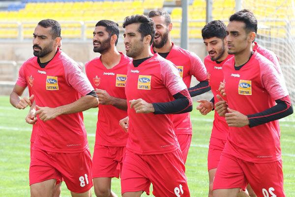 تمرین پرنشاط سرخپوشان در ورزشگاه کاظمی