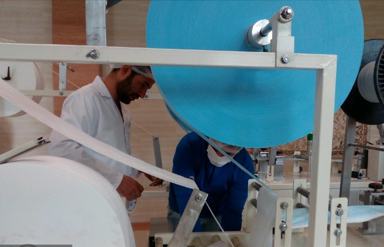 بومی سازی دستگاههای پر سرعت تولید ماسک سه لایه در ابهر