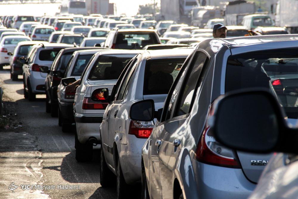 آخرین وضعیت محورهای پر تردد کشور؛ بار سنگین ترافیکی در آزادراه قزوین_رشت+تصاویر