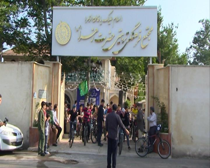رکابزنی ۱۵۰ نوجوان بسیجی رشت در سالگرد ارتحال امام خمینی (ره) + عکس