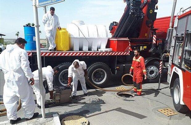 آتشسوزی در انبار شرکت فولاد خوزستان/ ۴۵ آتشنشان اعزام شدند
