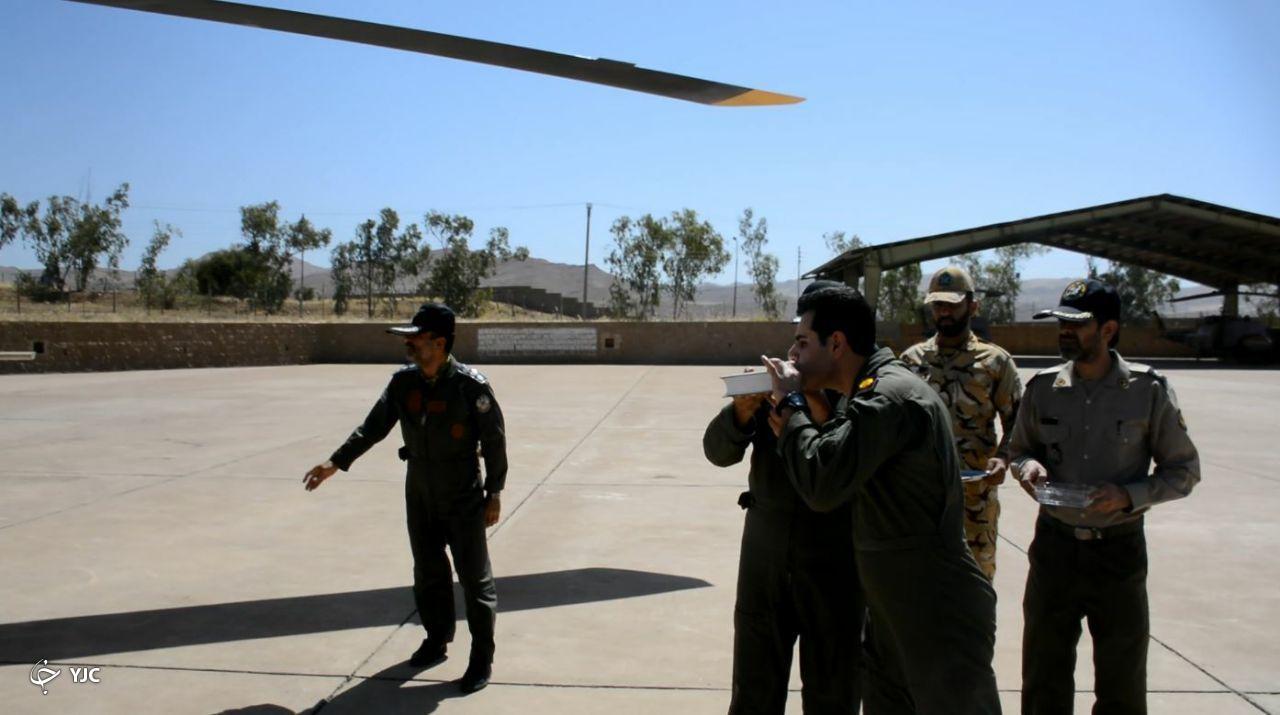 انجام ۱۰ سورتی پرواز هوانیروز ارتش برای اطفای حریق جنگلهای اندیکا