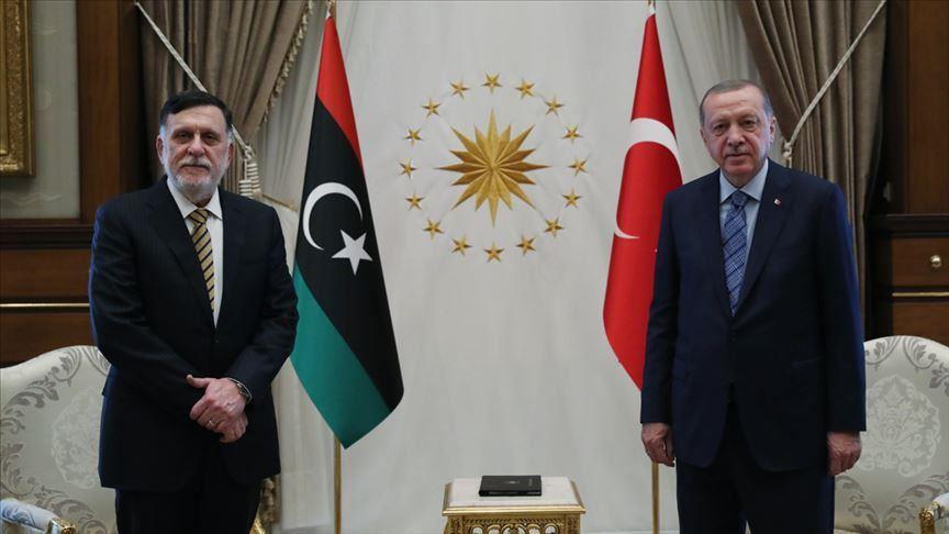 دیدار فائز السراج با اردوغان در ترکیه 01