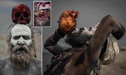 اعمال عجیب قبیله آدم خوار هندی؛ از خوردن گوشت مُرده تا نوشیدن آب با جمجمه سر انسان!