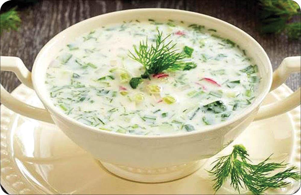 آب دوغ خیار با کشمش و گردو، ناهار روزهای گرم