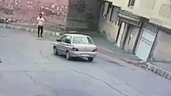 اخاذی از راننده پراید با یک تصادف ساختگی! + فیلم