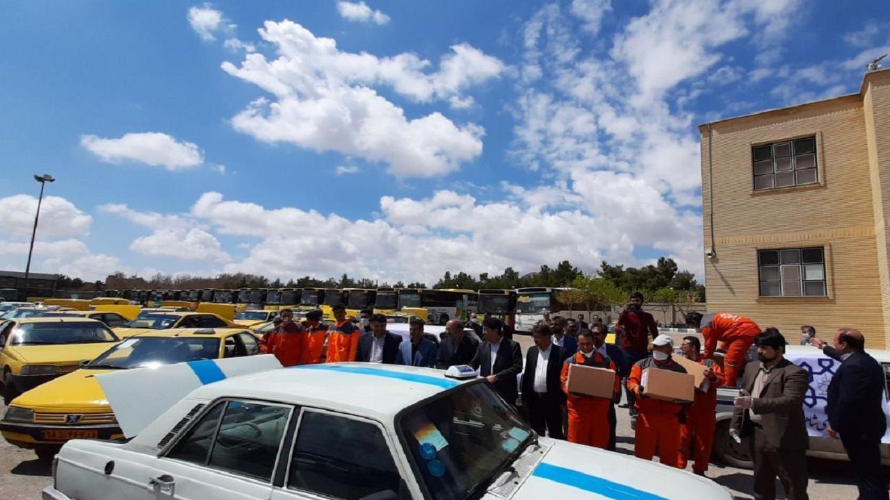 اهداء بسته معیشتی به تاکسی رانان سمنانی