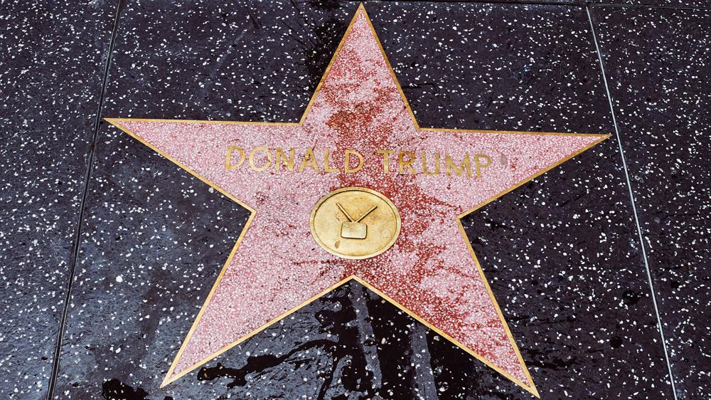 ستاره مشاهیر ترامپ در هالیوود مخدوش شد