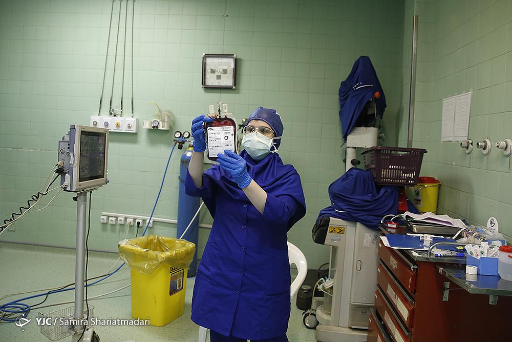 تزریق خون به بیمار