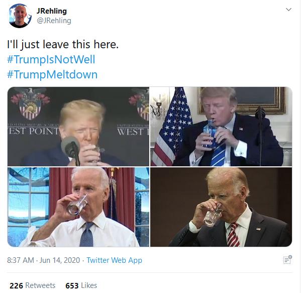 داغ شدن #«حال_ ترامپ _خوب_ نیست» بعد از رفتارهای عجیبش در یک سخنرانی