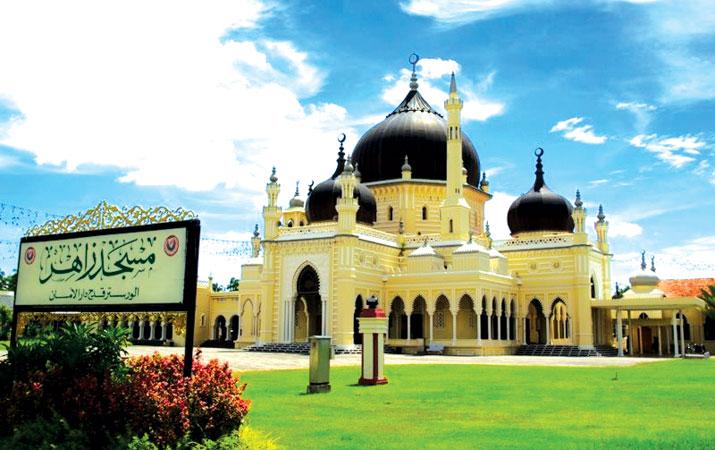 مسجد زهیر کداه مالزی با معماری تایلندی + تصاویر