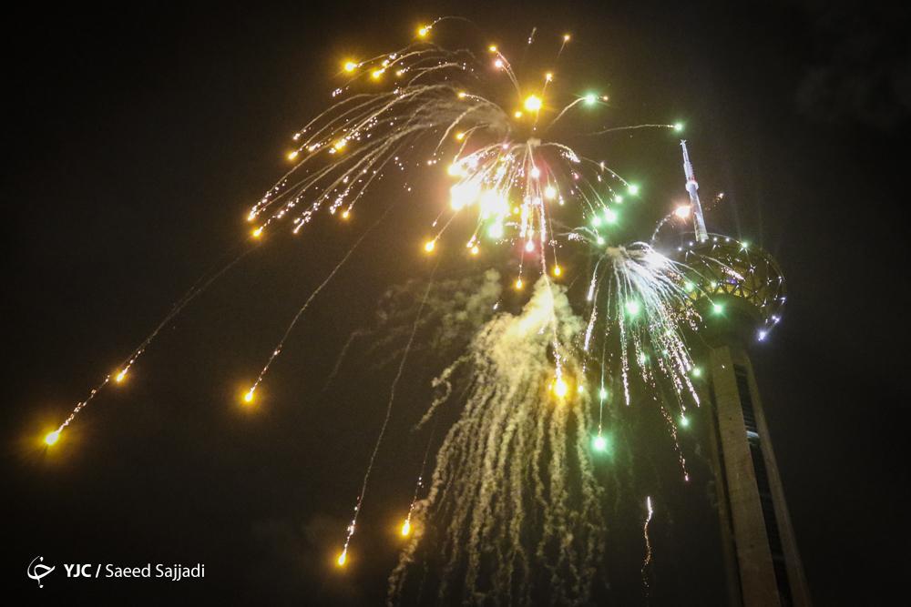 نورافشانی ۲۲ نقطه از اماکن پایتخت در شب عید سعید فطر
