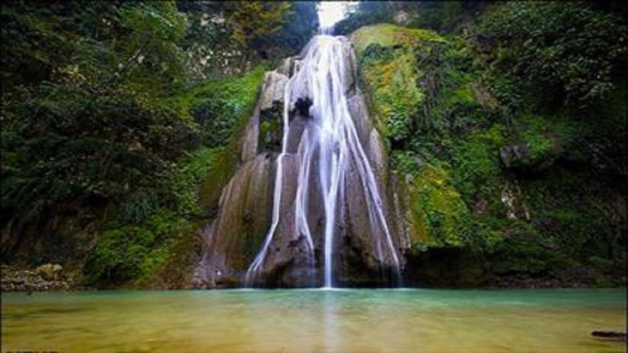 آبشار خزهای باران کوه در گرگان + فیلم