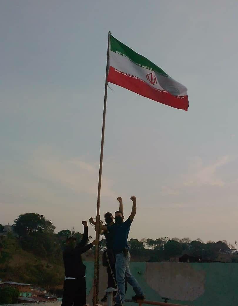 پرچم ایران در پایتخت ونزوئلا به اهتزاز درآمد