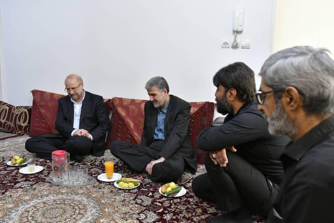 قالیباف با خانواده شهید مدافع حرم