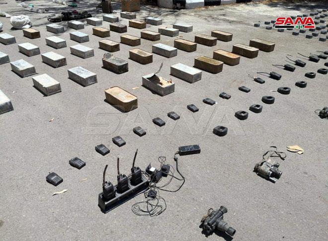 کشف مقادیر بسیاری از سلاحهای ساخت غرب در جنوب دمشق + تصاویر
