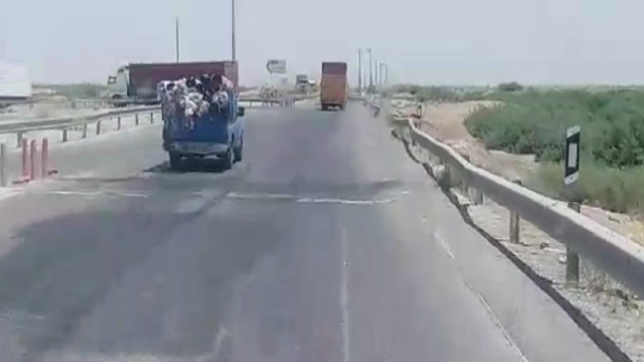 وضع نامناسب جاده چرمشهر – ورامین از نگاه دوربین شهروندخبرنگار + فیلم