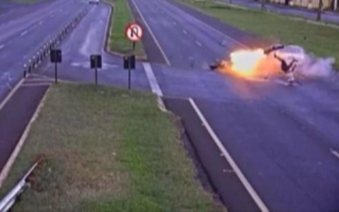 منفجر شدن موتور سیکلت