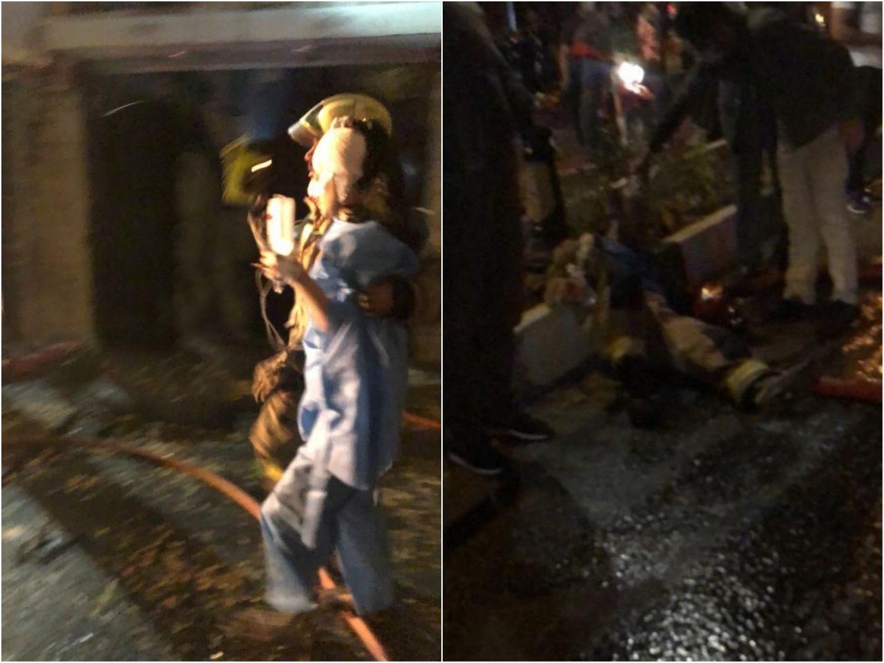 آتش سوزی در درمانگاه سینا اطهر در خیابان شریعتی/مصدومیت ۳ نفر/اعزام ۵ دستگاه آمبولانس به محل حادثه