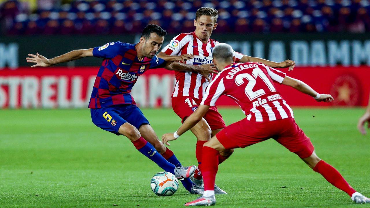 بازی بارسلونا و اتلتیکو مادرید