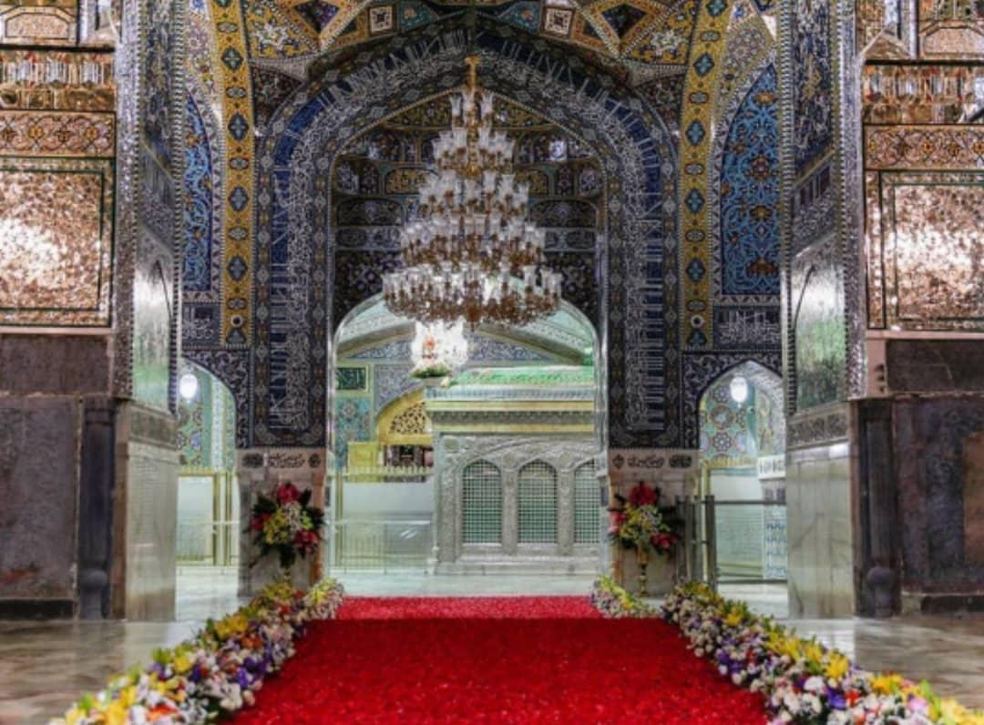 مسیر بهشت تا خانه شاه خراسان گلباران شد