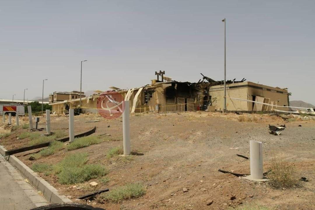 اولین تصاویر منتشر شده از حادثه در سایت هستهای نطنز