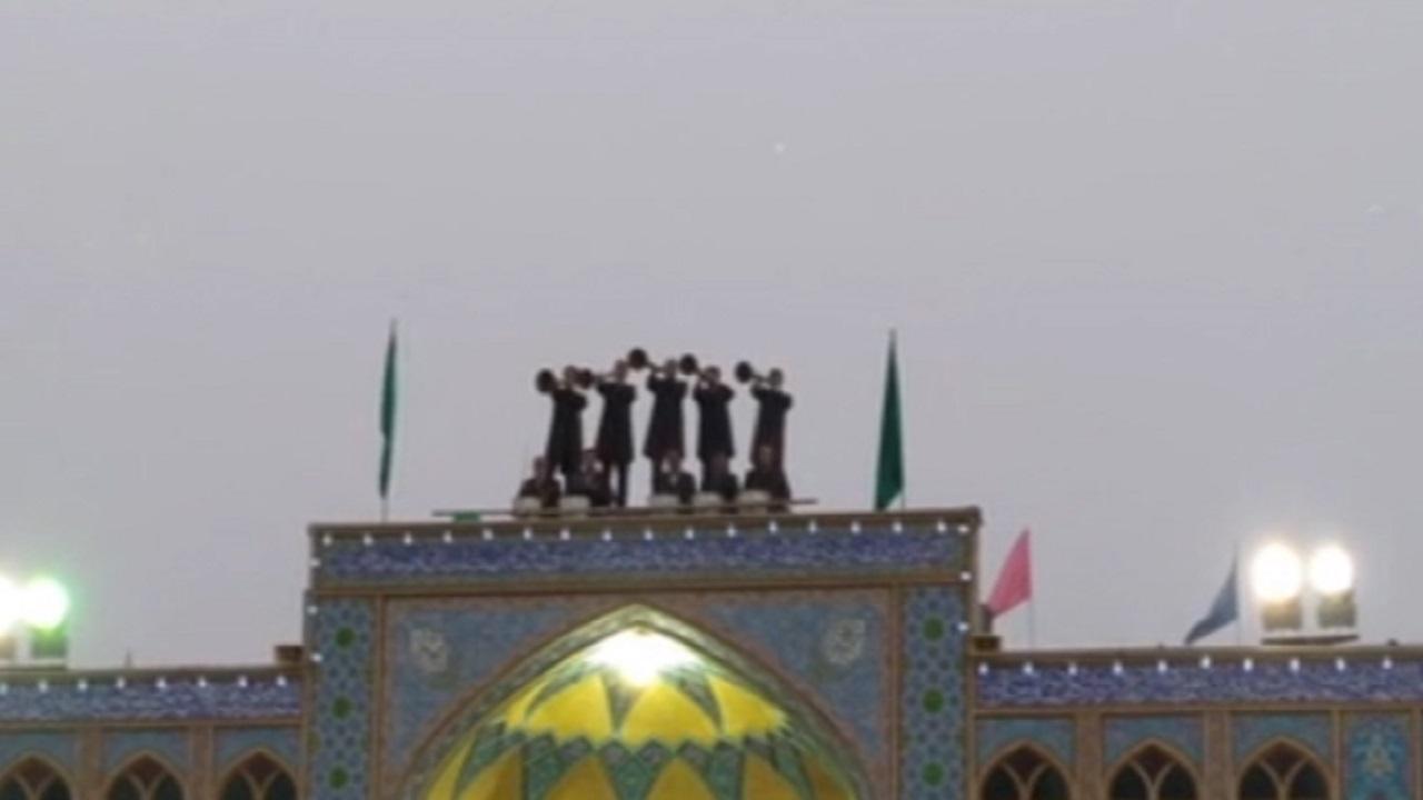 نقارهزنی در حرم مطهر حضرت محمد هلال بن علی (ع) + فیلم