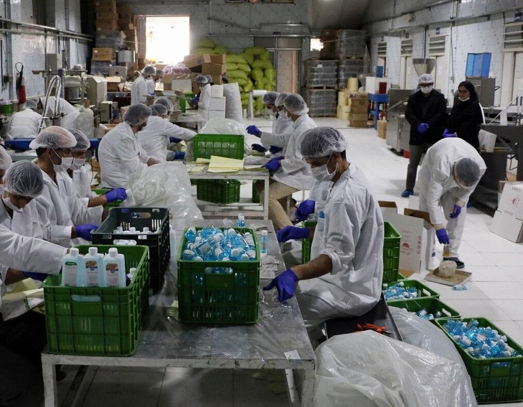 تولید ۶۰۰ هزار لیتر مواد ضدعفونی در آذربایجان شرقی