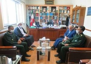 دیدارفرمانده سپاه کردستان با رئیس دادگستری