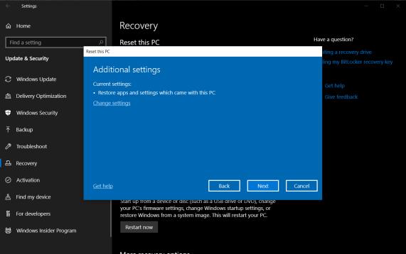 چگونه ویندوز ۱۰ را به تنظیمات کارخانه بازگردانی کنیم؟