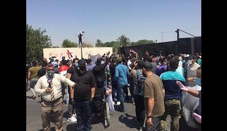 تظاهرات مردم عراق در اعتراض به توهین سعودیها به آیتالله سیستانی+ عکس