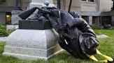 باشگاه خبرنگاران - فوران آتشفشان نفرت مردم آمریکا از برده داران/ مجسمههایی که دموکراسی را به سخره گرفتند + فیلم